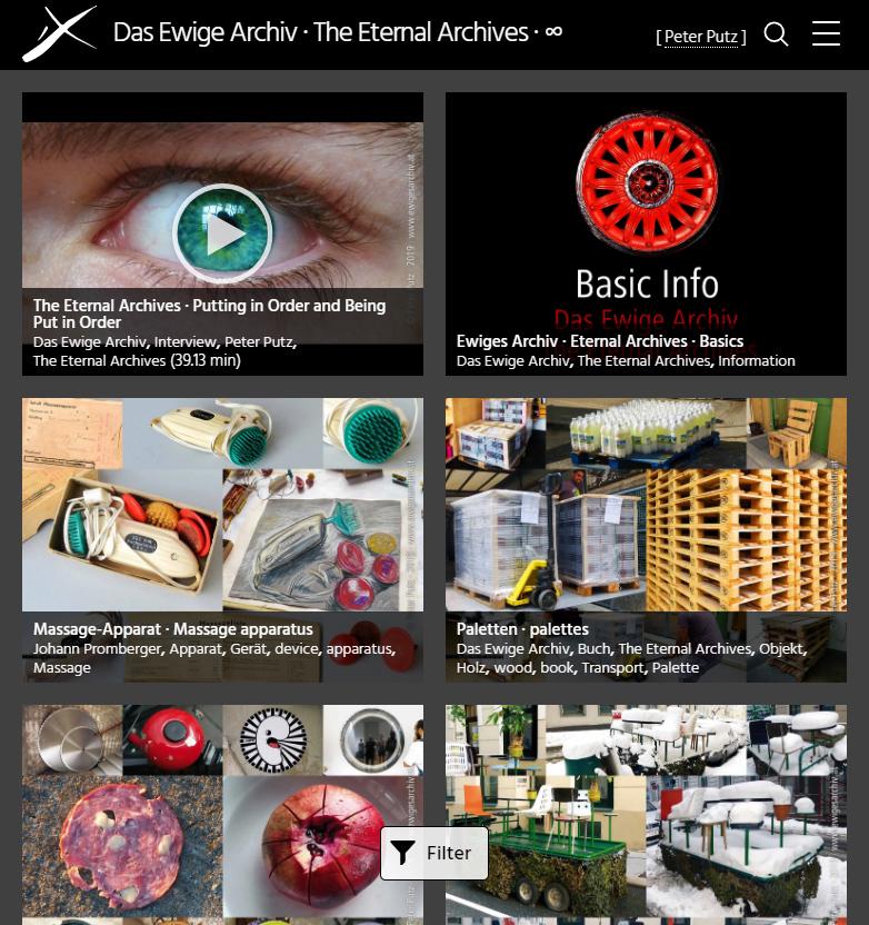 Das Ewige Archiv - Homepage mobil