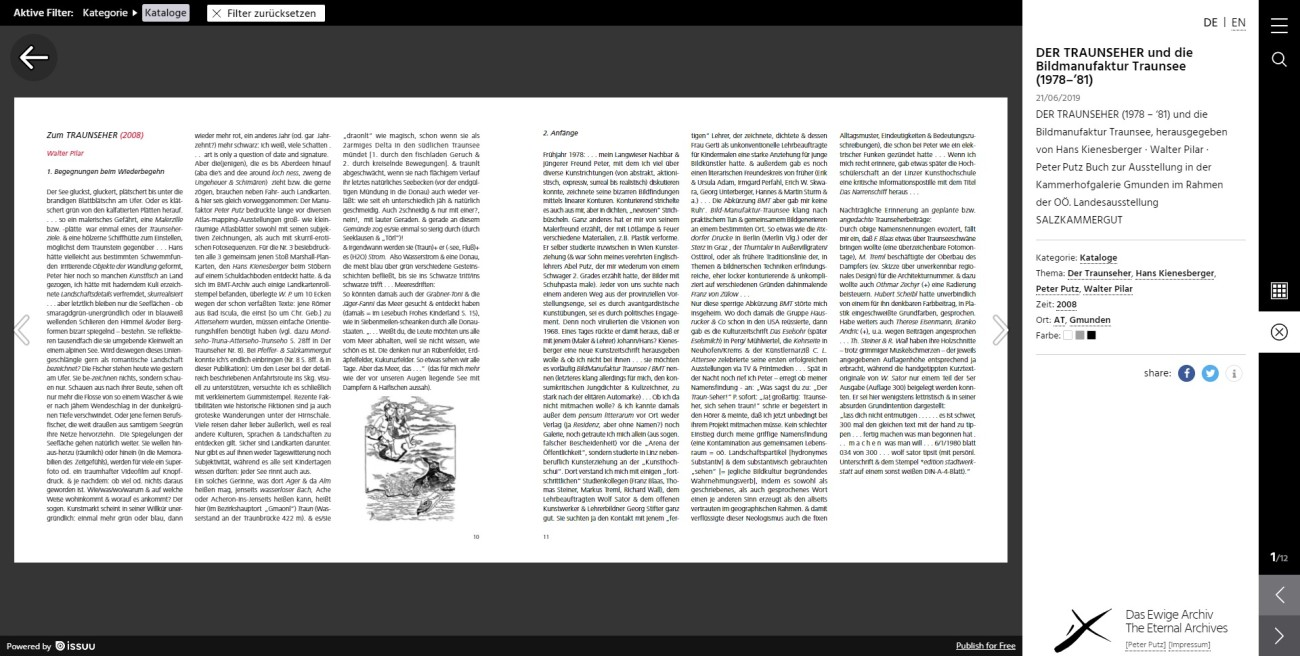 Das Ewige Archiv - Detailseite Katalog