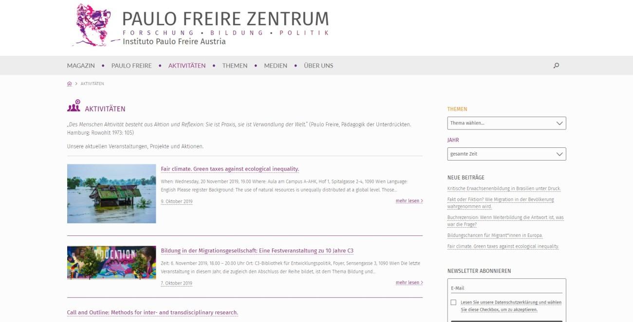 Paulo Freire Zentrum - Aktivitäten