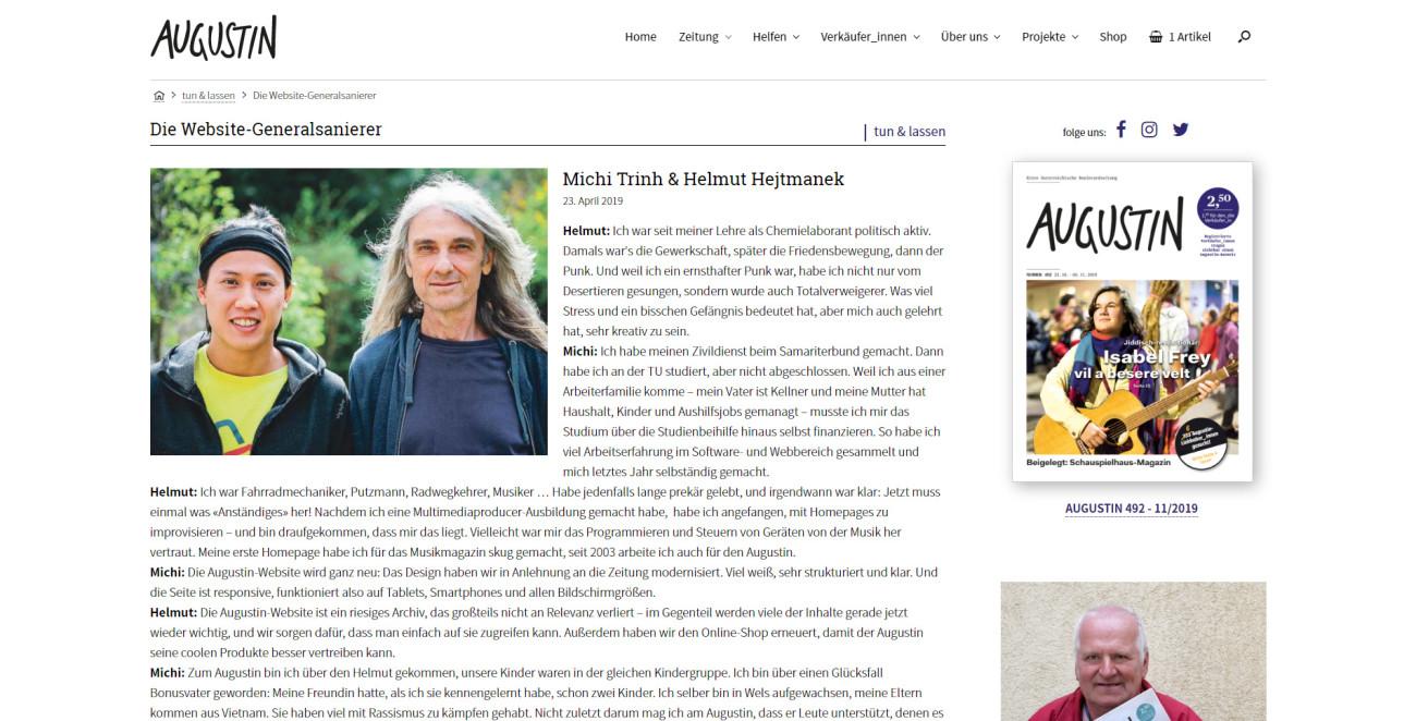 Augustin - Detailseite Artikel