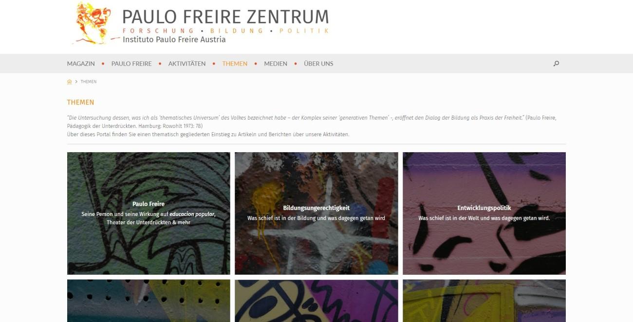 Paulo Freire Zentrum - Themen