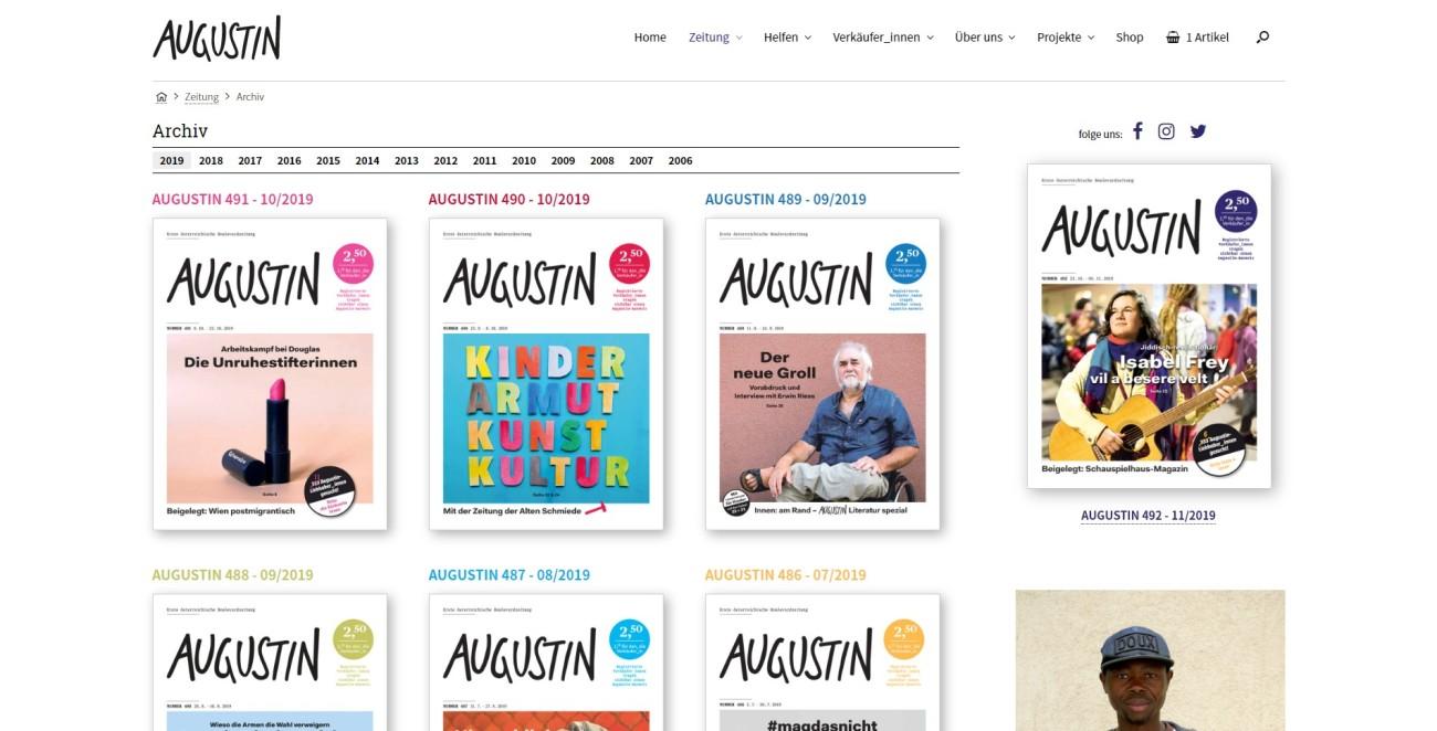 Augustin - Zeitung Archiv